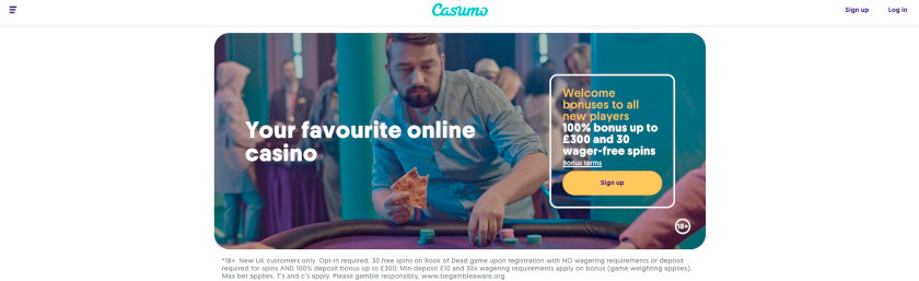 Casumo Homepage UK